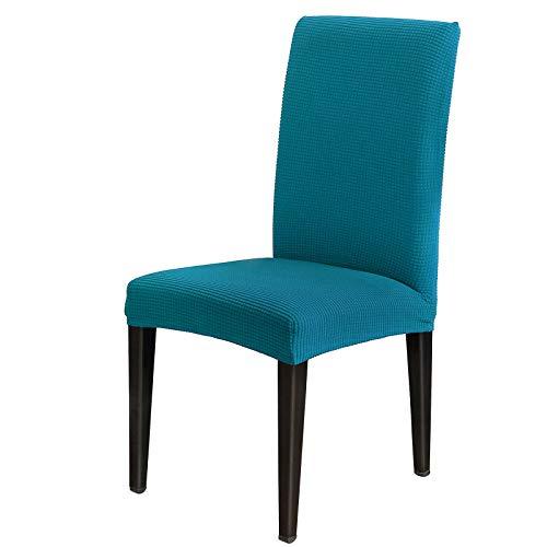 AngLink Stuhlhussen, Stuhlhusse Stretch Emerald, Elastischer Stuhlbezug Stretch Abnehmbare Waschbar