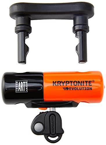 Kryptonite 003212 Evolution Compact Disc Lock Orange 13mm Hardened Max-Performance Steel Shackle Includes 3 Stainless Steel Keys