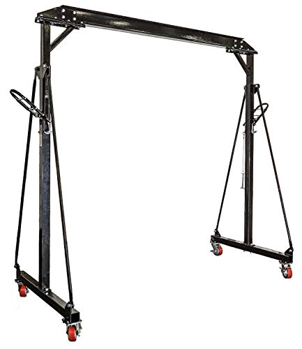 JEGS Performance Products 81245 Adjustable Height Gantry Crane 1-Ton Capacity