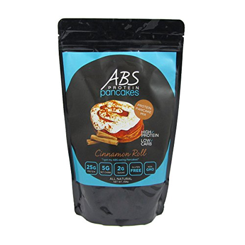 Protein Pancake Mix – ABS Protein Pancakes and Waffles – Cinnamon Swirl Protein Powder Mix – Gluten Free, Keto Friendly – High Protein, Low Carb, Low Sugar – 1 Pound Package ($2.50/Ounce)