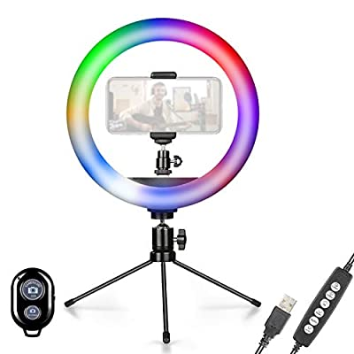 10in Ring Light with Stand,Phone Holder and Remote