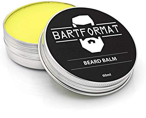 BARTFORMAT Bart Balsam (60 ml) - Bartwachs als Bartpflege & Bartglätter für Geschmeidige Barthaare - Beard Balm mit Sheabutter, Aprikosen, Jojoba und Argan Öl | Bartcreme für Männer