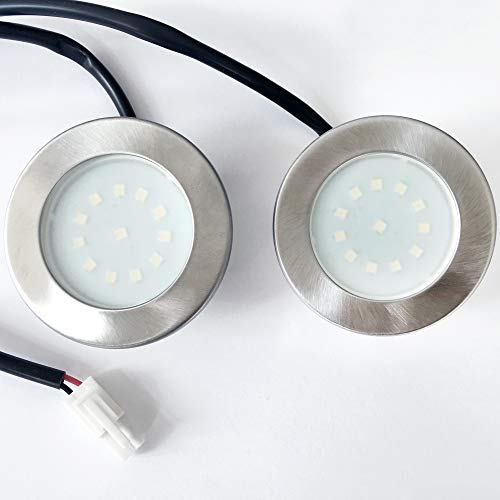 2er Set - VIESTA X15-KW LED Ersatzlampe 1,5W kaltweiß für Dunstabzugshaube DHX-Serie mit Kabel, LED-Strahler & Beleuchtung