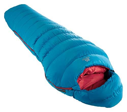 Mountain Equipment Classic 500 Womens Regular Blau, Damen Daunen Schlafsack, Größe 180 cm RV Links - Farbe Neptune