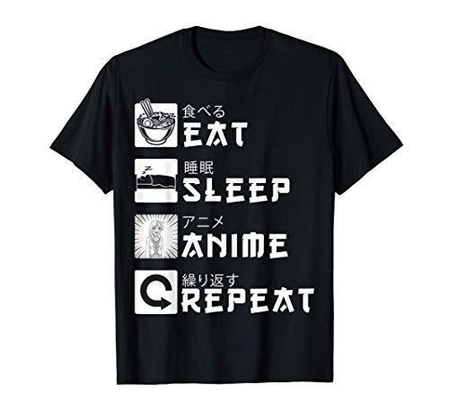 Eat Sleep Anime Repeat Japanese Manga Lover Cosplay Gift T-Shirt