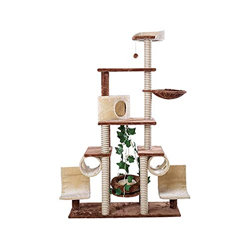 Cat | ANZ LKNJLL Extra Large Cat Tree Condo with Sisal-Covered Scratching Post Plush Perch Hammock,Cat Tower Activity Center Kitten Furniture Play House,Cat Shelf Toy., Gym exercise ab workouts - shap2.com