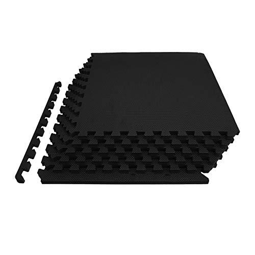 FB FunkyBuys® Zwart 60x60cm Interlocking Omkeerbare Vloermat geschikt voor Gym Outdoor/Indoor Beschermende Vloeren Matten