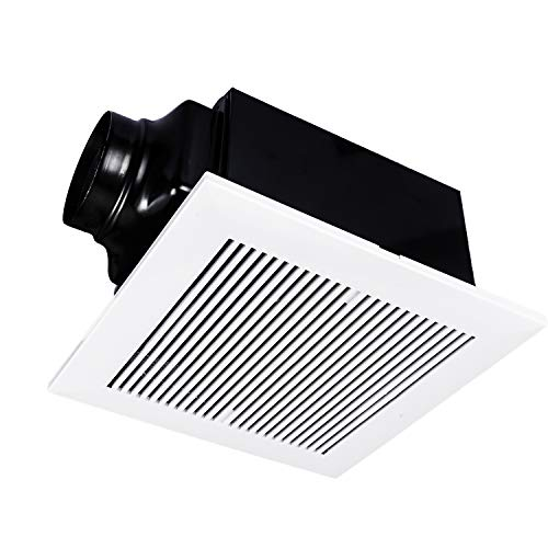 iPower Ultra-Quiet Household HVAC Ventilation Fan, For Bathroom Ceiling Mount with AC Motor, 120 CFM, White