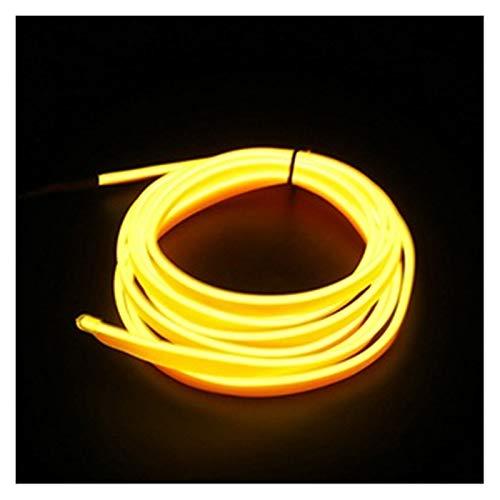 MUZIWENJU 1m / 2m / 3m / 5m Neon L e D Car Interieur Beleuchtungsstreifen Auto L e D Streifen Girlande EL Draht Seil Auto Dekoration Lampe Flexible Tube (Farbe : 1M USB Drive, Größe : Yellow)