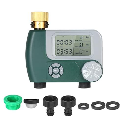 A-YSJ Controlador Temporizador de grifos operado por batería de riego automático de riego programable Sistema de Manguera Digital Controlador de riego con 2 Salida