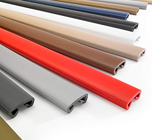 PVC Handlauf Dunkelgrau 40x8 mm Treppenhandlauf Kunststoff | 1 Meter