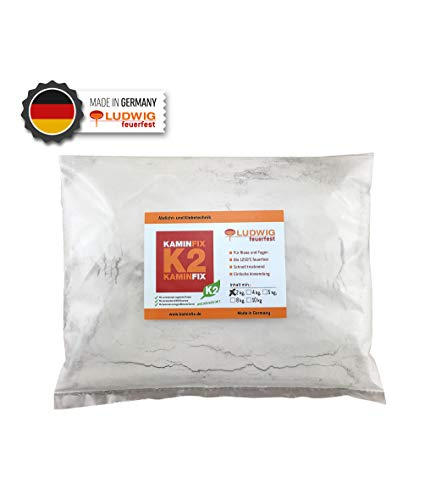 Feuerfester Mörtel Schamottemörtel Kaminmörtel Ofenmörtel - Mörtel zur Kaminreparatur 2kg Schlauchbeutel!