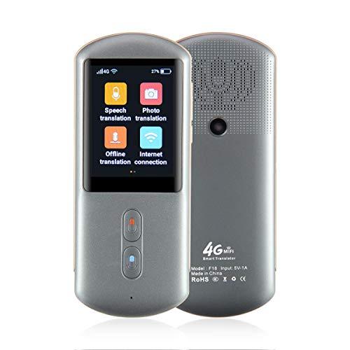 TEEPAO Smart Sprachübersetzer Device, WiFi/Offline/MIFI 4G 2,4 Zoll Farb-Touchscreen, 107 Sprachen Zwei-Wege Echtzeit Sofortige Übersetzung, Fotografieren Übersetzungen, Deutsche Systemsprache