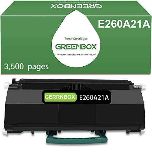 GREENBOX Compatible Toner Cartridge Replacement for Lexmark E260A21A for Lexmark E260 E260d E360 E360d E460 E460dn E460dw E462 E462dtn E462 Printer (8,500 Pages High Yield, Black, 1-Pack)