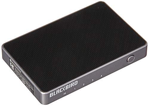 Monoprice Blackbird 4K 4x1 HDMI Switch with Audio Extractor - Black   HDR, 18Gbps Refresh Speeds, YUV 4:4:4