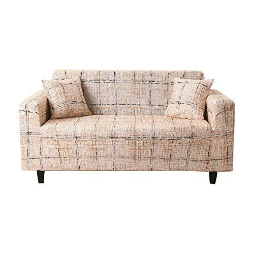 GAKIN Fundas de sofá elásticas de tela suave estampada de elastano, todo incluido, doble 2 plazas, 1 unidad