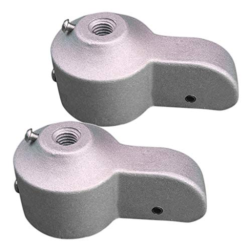 HomeDecTime 2X Aluminium Fahnenmast Riemenscheibe Kappe Für 2