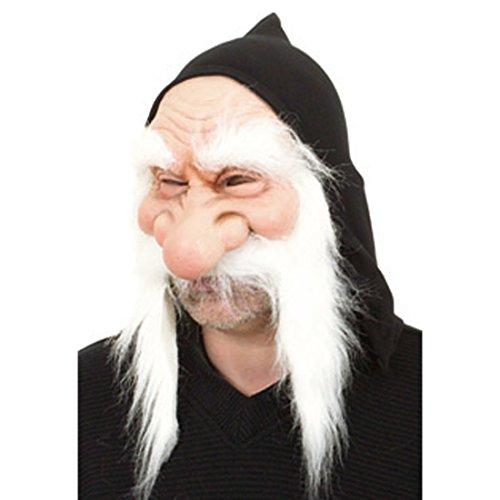 NET TOYS Latex Zwergen Maske Zwergenmaske Faschingsmaske Gummimaske Zwerg Gnom Wichtel