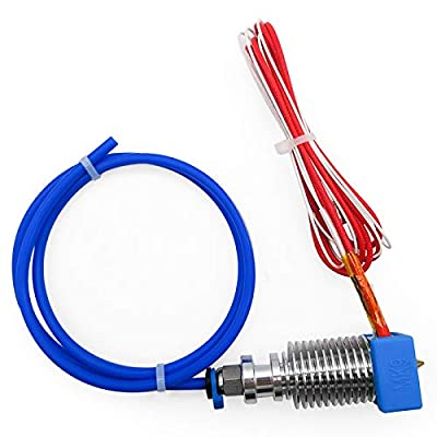 Assembled MK9 Extruder Hot End Kit with Silicone Cover for Creality CR-10 V2 Series 3D Printer, Use VH3.96 Port, 24V 40W