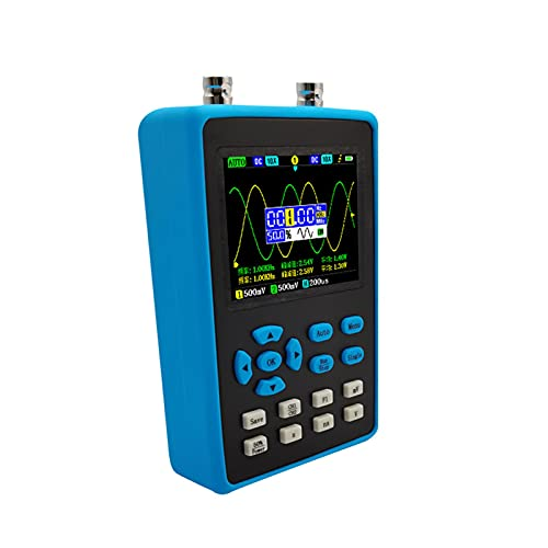 Osciloscopio digital - DSO2512G Mini osciloscopio de almacenamiento digital portátil de doble canal, osciloscopio portátil con ancho de banda de 120M y muestreo de 500M