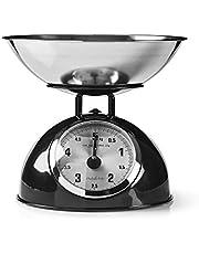 Nedis Keukenweegschaal Keukenweegschaal   Analoog   Roestvrij Staal   Removable bowl   Zwart Zwart