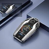 WQSNUB カーボンファイバーパターンオールインクルーシブTPUカーキーケース、BMW7シリーズ7406シリーズGT5シリーズ530iX3カーキーホルダーキーカバー用