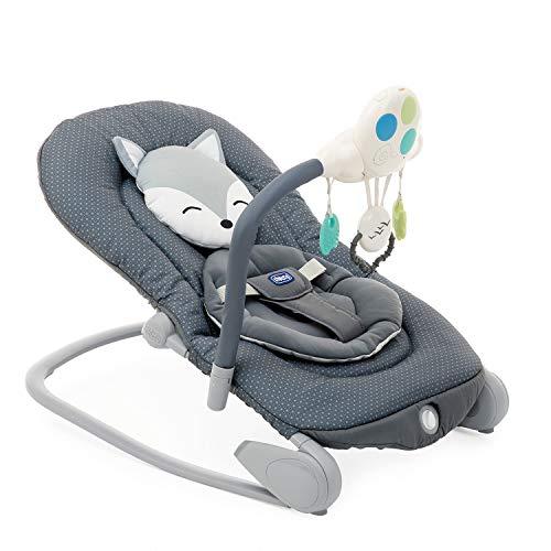 Chicco Balloon Säuglings- und Babywippe 0 Monate - 18 kg, Wipp- und Sesselfunktion, Verstellbare Rückenlehne, Kompakter Verschluss, Vibration, Interaktives Elektronisches Spielzeug, Lichter und Sound
