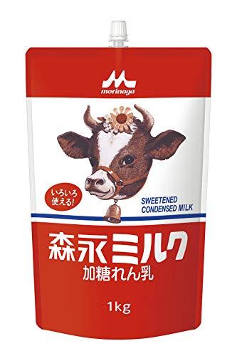 森永 加糖れん乳 森永ミルク スパウトパウチ 1kg [業務用 大容量 コンデンスミルク 練乳]