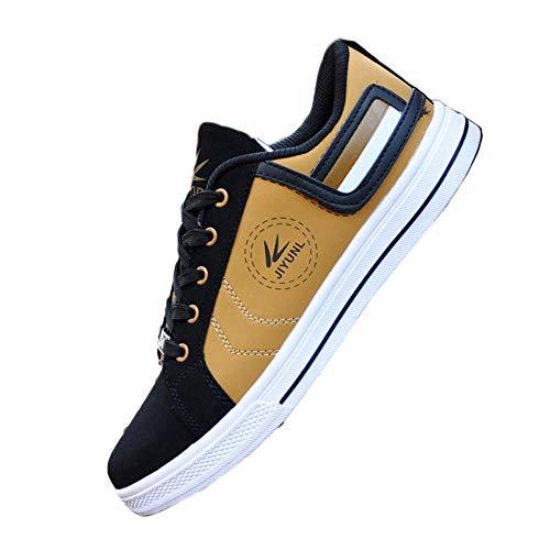 Zapatos de deporte de los hombres zapatos de lona con cordones para arriba zapatos de monopatín de estudiante casual, color, talla 40 2/3 EU