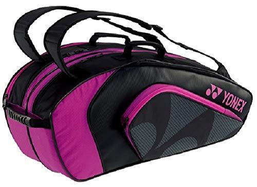 ヨネックス(YONEX) テニス バドミントン ラケットバッグ6 (リュック付) テニスラケット6本用 BAG1922R ブラック×ローズピンク