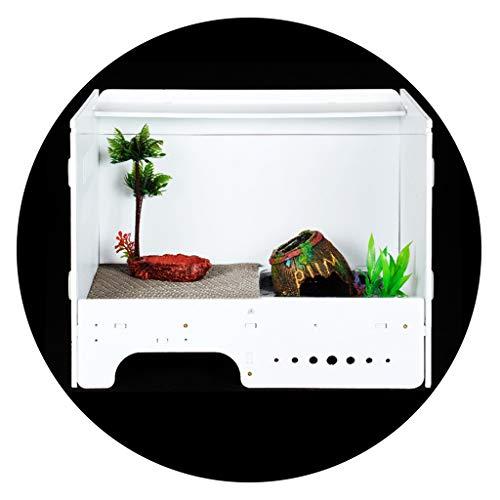 Casas para reptiles Reptil Casa Cubierta De Cuernos De La Rana La Alimentación La Caja Anfibios Lagarto Araña Escarabajo Insectos De Arrastre De La Tortuga De Caja Depósito Alimentación Reptiles Box