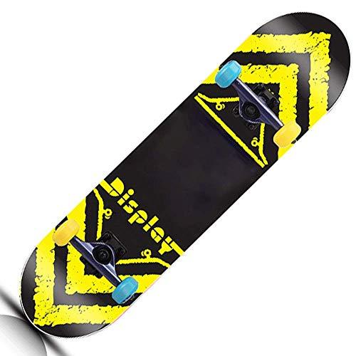 31-Zoll-Vierrad-Skateboard for Cruiser Boards for Kinder, Erwachsene, Jungen und Mädchen, Skateboard QIANGQIANG (Color : Brass)