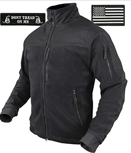 Condor Tac-Jacket (Black-3XL) & USA Flag & Dont Tread Patch - 3 Item-Bundle