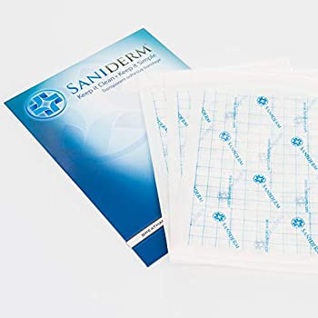 Saniderm Tattoo Aftercare Bandage | Transparent Hygienic Adhesive Wrap | 3 Individually Packaged Sanitary Sheets | 8 inch x 10 inch  20.32 cm x 25.4 cm  | Protect and Heal Your Tattoo