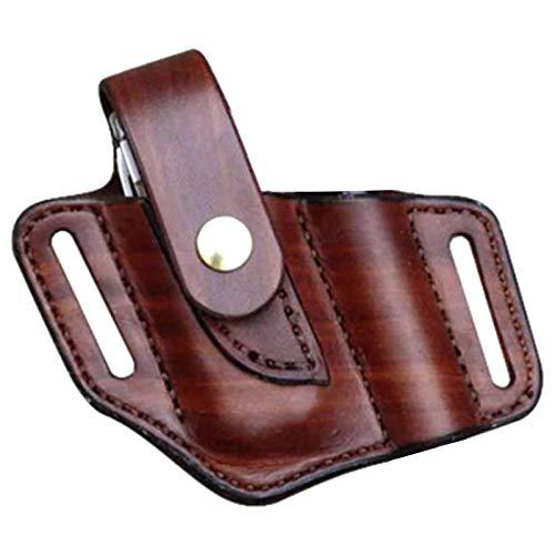 Needediy Multifunktionswerkzeug EDC Schutzhülle Tasche Aufbewahrungstasche Taschenlampe Lederscheide mit Schlüsselclip Multitool-Tasche Geeignet für Gürtel, Taschenlampen
