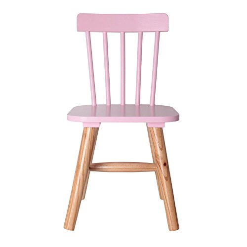 THE HOME DECO FACTORY hd3004 Silla para niños Madera/MDF Rosa 29 x 33 x 58 cm