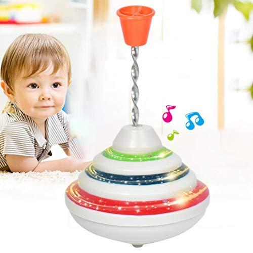 Musik Spielzeug Kreisel, LED Shining Malkreisel, Musikkreisel erzeugt mehrstimmige Töne, Spielzeugkreisel Geburtstagsgeschenke für Kinder