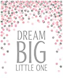XWArtpic Pink Dream Big Little One Herz Liebe Feder
