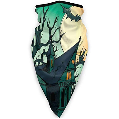 YURONG Haunted Pumpkin Bats in Twilight Gothic Damen Herren Winddichtes Stirnband Schal Hals Gamasche Gesichtsmaske Bandana Schalldämpfer Half Face Cover Schweißband Skihals Wärmer Masken