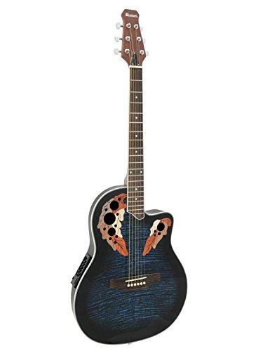 Guitarra Western ROUNDBACK con pastillas piezoeléctricas, azul - Guitarra country / Guitarra para avanzados - klangbeisser