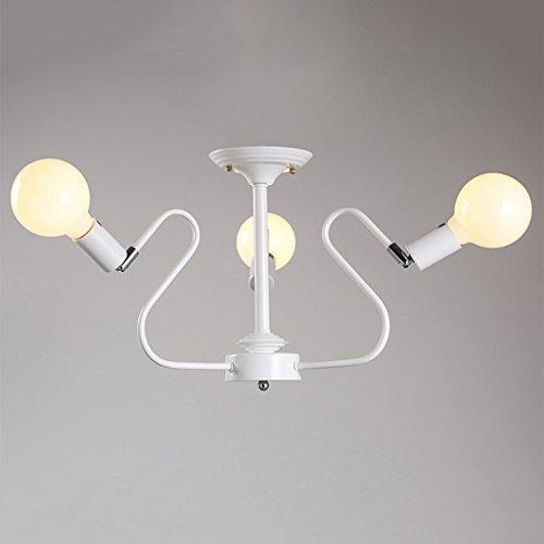 WWW Retro-stijl, industriële stijl, smeedijzer, LED-kroonluchter, mat, technologie 5 vierkante meter tot 15 vierkante meter, geen lichtbron voor bar, werkkamer, cafés en andere plaatsen, plafondlamp