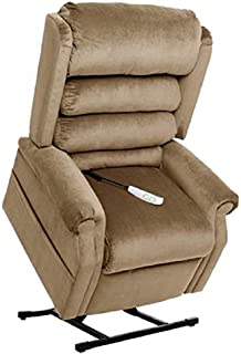 """MM-1950LT Tall Man Galaxy Mega Motion Power Lift Recliner Chair. (Beige) Suggested User Height: 5'10"""" to 6'6"""". Weight Capacity 375 Lbs. Free Curbside Delivery"""