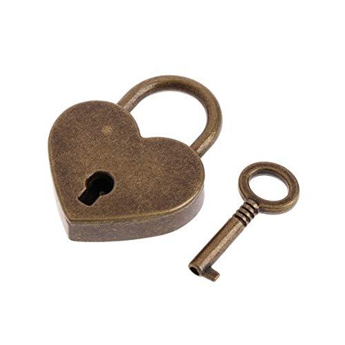 ZAOPP Key Lock Estilo En Forma De Corazón Antiguo Antiguas De La Mini Archaize Candados con Llave (Color : Red)