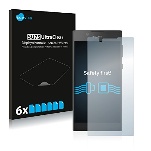 savvies Protector Pantalla Compatible con Sony Xperia L1 (6 Unidades) Pelicula Ultra Transparente