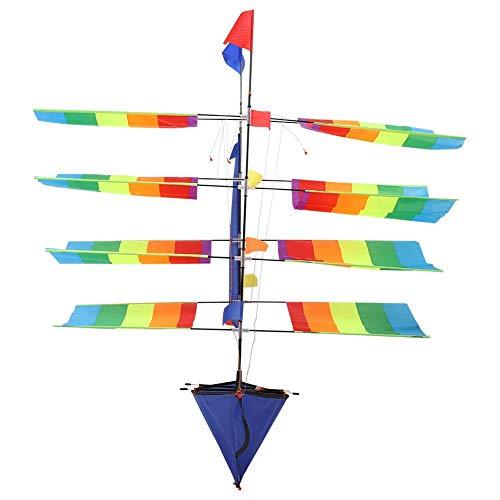 Yosoo Health Gear Barco de Vela 3D, Cometa voladora de velero, Cometa voladora de velero arcoíris Enorme 3D para Juego de Playa en el Parque al Aire Libre