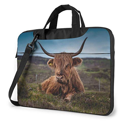 Laptop Tote Bag, Long Haired Beef Durable Laptop Carrying Bag with Handle Fits 13-15.6in Notebook for Men