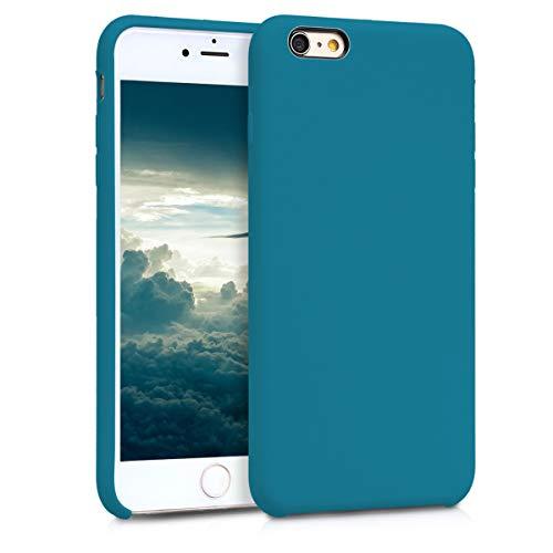 kwmobile Custodia Compatibile con Apple iPhone 6 Plus / 6S Plus - Cover in Silicone TPU - Back Case per Smartphone - Protezione Gommata Petrolio Matt
