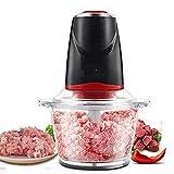 LKOER Mini procesador de Alimentos, procesador de Alimentos eléctricos, Amoladora de Carne y Picador de Alimentos, Molinillo de Copa de Vidrio para Carne, Veg jinyang