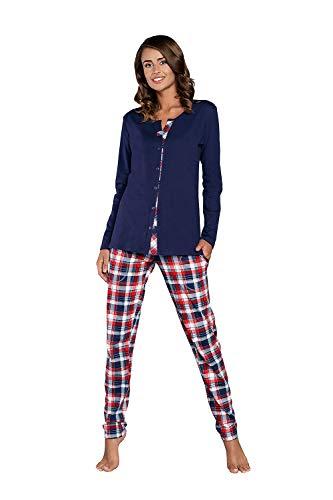 Schlafanzug Damen Herbst Winter Pyjama Set Nachtwäsche Zweiteiliger Hausanzug...