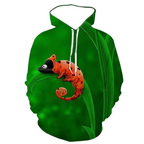 Unisexo Sudaderas con Capucha Impresa Americana 3D Sudadera con Capucha de Manga Larga Animal Lizard Print...